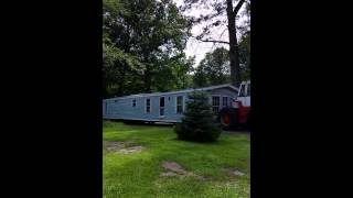 Moving a mobile home, the redneck way!