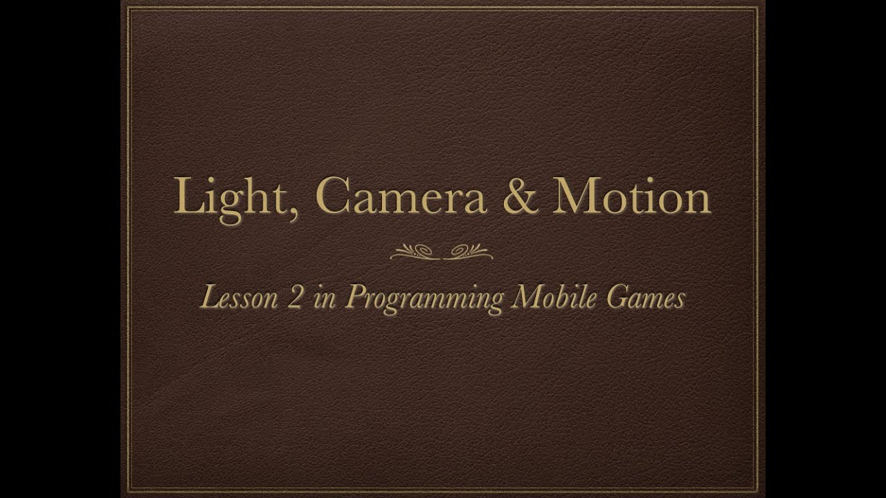 How to Add Light, Camera & Motion to SceneKit 3D Objects -- Lesson 2 in  Mobile Games