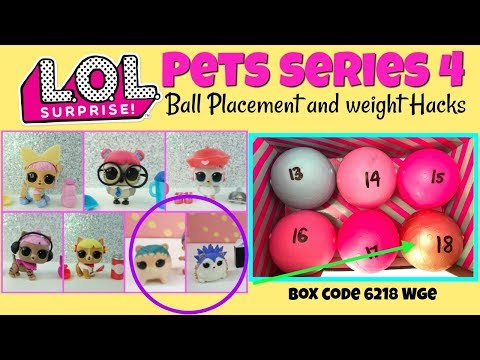 LOL Surprise Series 4 Pets Ball Placement And Weight Hacks, Dawn Pooch, Cozy Kitty LOL Toys For Kids