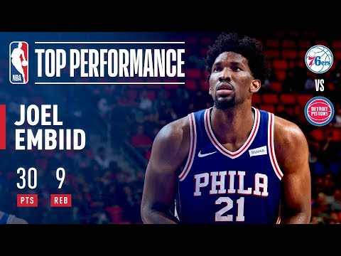 Joel Embiid Leads 76ers With 30 Points In Win Over Pistons | October 23, 2017