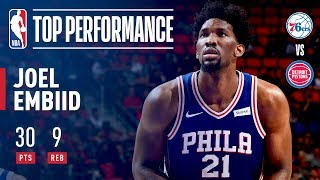 Joel Embiid Leads 76ers With 30 Points In Win Over Pistons | October 23, 2017 thumbnail