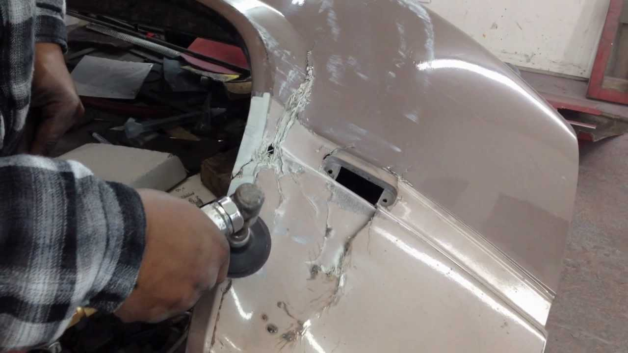 chevy dually fiberglass fender repair  YouTube