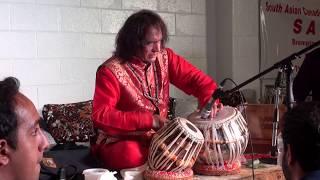 Tari Khan Saheb Tabla Solo with Ghulam Ali Saheb in the audience