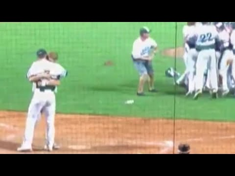 In amazing show of sportsmanship, baseball player hugs friend on losing team