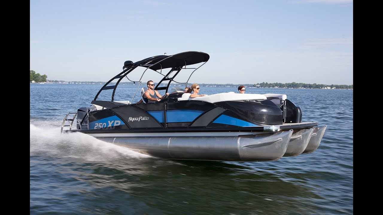 godfrey pontoon boats aqua patio 250 express rough and salt water pontoons youtube - Aqua Patio