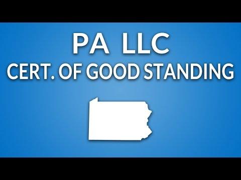 pennsylvania-llc---certificate-of-good-standing