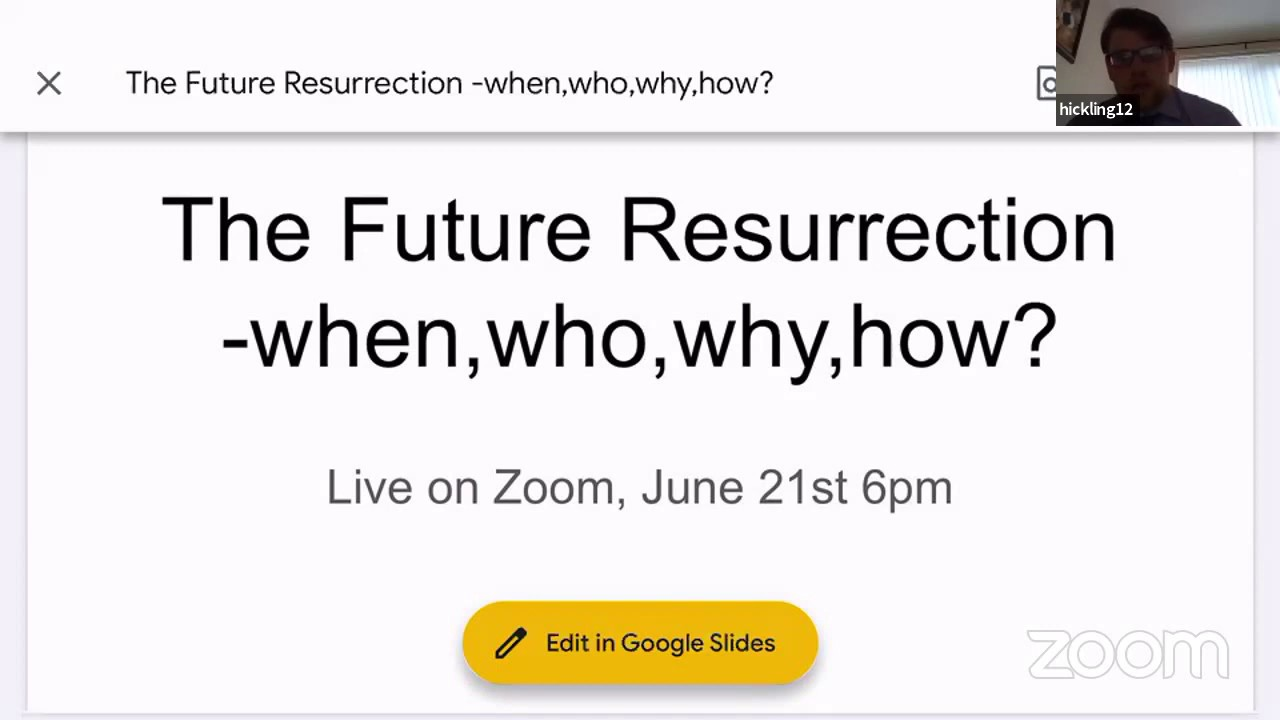 The future resurrection - when, who, why, how?