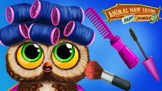 Fun Animal Care Games  - Baby Jungle Animal Hair Salon Make Up Makeover For Girls Kids Games