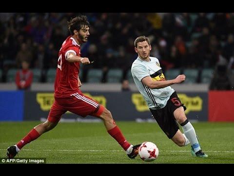 Russia - Belgium 3-3 Goals and Highlights 28/03/2017