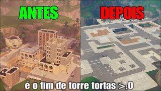 DESTRUINDO TORRES TORTAS (Novo modo - Parquinho - Fortnite)