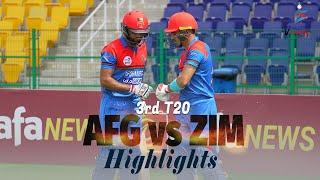 Afghanistan vs Zimbabwe Highlights | 3rd T20 | Afghanistan vs Zimbabwe in UAE 2021