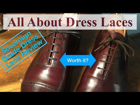 High Quality Dress Shoe Laces & How to Bar Lace