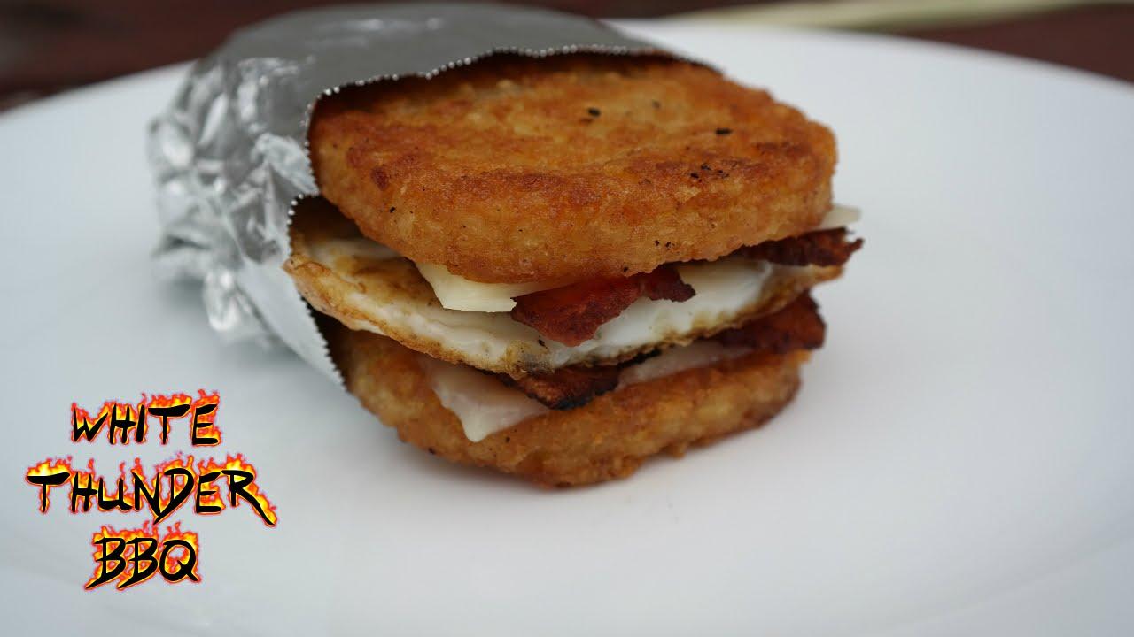 Hashbrown Breakfast Sandwich White Thunder Bbq Youtube