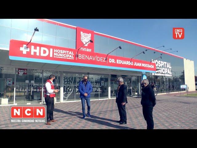 CINCO TV - Julio Zamora presentó los 10 nuevos respiradores del Hospital Municipal de Benavídez
