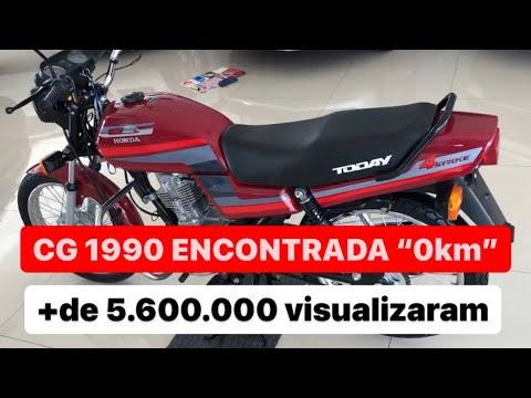 Honda CG Today 1990 ´´0km`` em 2019 Inacreditável
