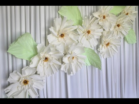 Crape Paper Flower Backdrop DIY | How To