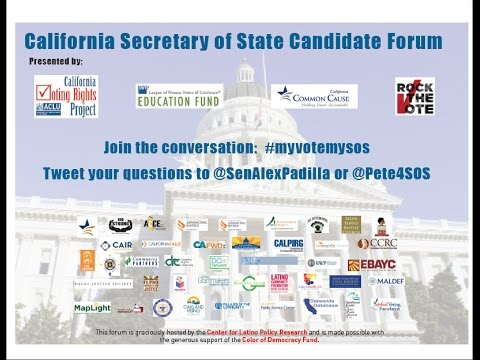 California Secretary of State Candidate Forum at Berkeley