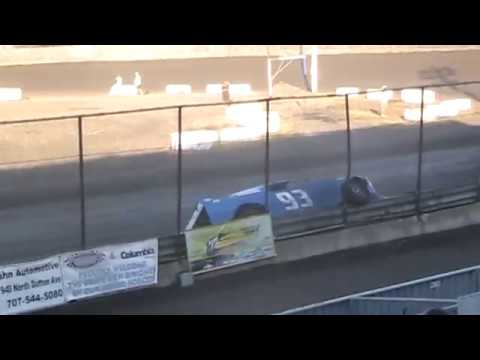 Super Stock Crash @ Petaluma Speedway 9/5/16