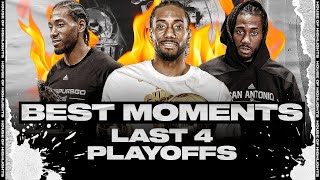 Kawhi Leonard VERY BEST PLAYOFF MOMENTS to REMEMBER | His Last 4 Playoffs