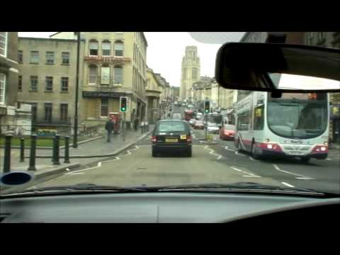 Bristol - the Centre and Park Street  市内で運転
