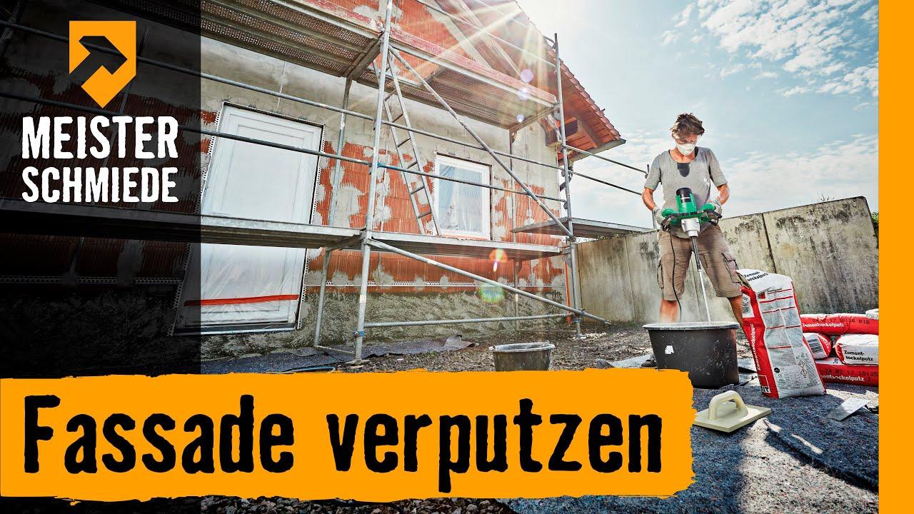 fassade verputzen   hornbach meisterschmiede - youtube