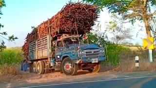 รถสิบล้อแรงๆ-รถสิบล้อหัวยาวคลาสสิค-รถสิบล้อขนอ้อยออกจากไร่,-dump-track-thailand