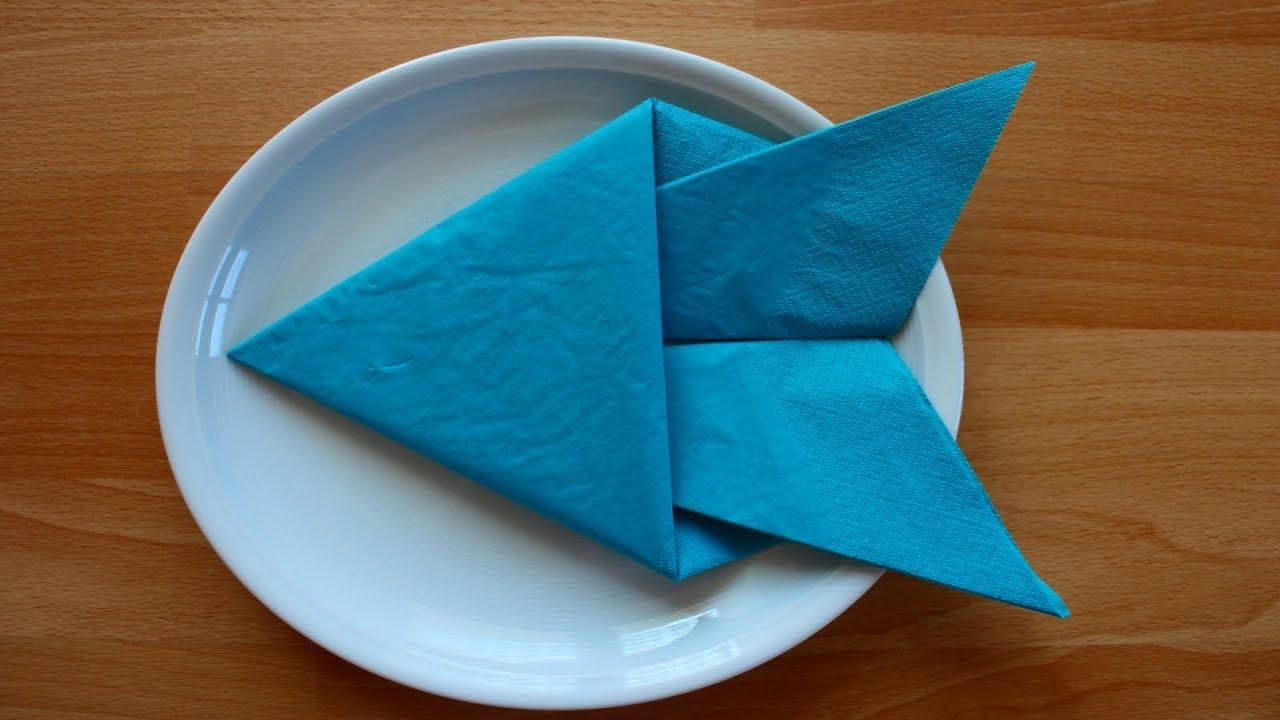 Servietten Falten Fisch Tischdekoration Zb Für Kinder Geburtstag W