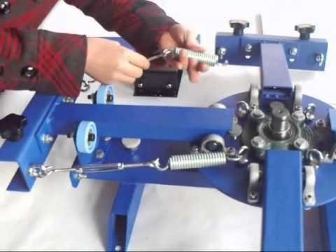 03c6a3740 4 Color 1 Station Screen Printing Press Installation Video - YouTube