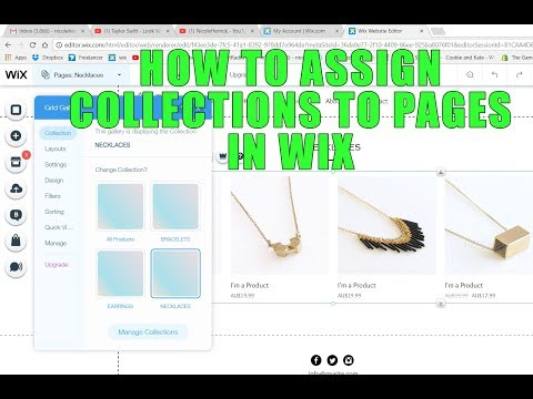 2017 How to assign collections to store pages in Wix ecommerce websites