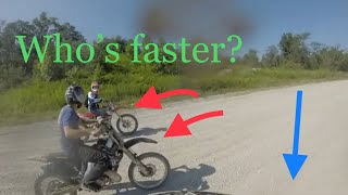 YZ250 VS CR250 2 STROKE! (Turn up the volume)
