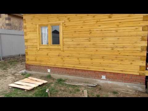 Дом 4 на 5 из бруса # Обзор бруса через год!