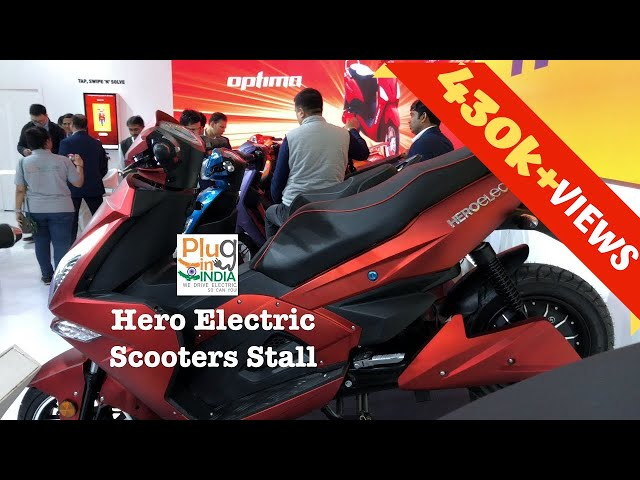 Hero Electric Scooters Stall @ Auto Expo