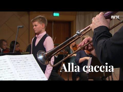 Alla caccia  Aksel Rykkvin 13y boy soprano  Mark Bennett  KORK