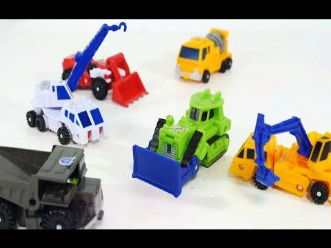 6대 중장비 변신 자동차 합체 로봇  [대문밖장난감]