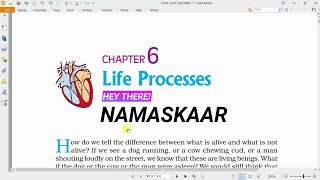 Life Processes | Class-10 Science, Ch-6, Part-1