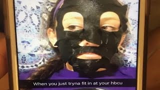 White Girl Puts Black Tape On Face To Fit In At Black University @Hodgetwins