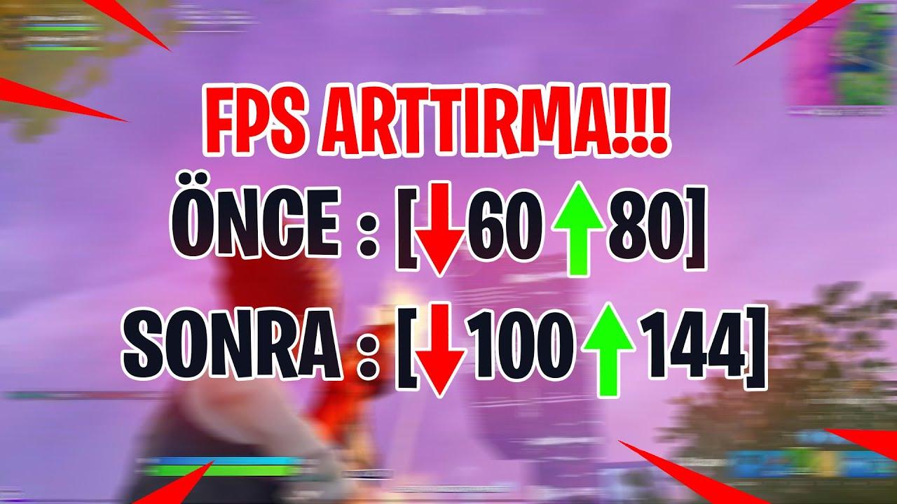 FORTNITE FPS ARTTIRMA!!! (Fortnite Fps Boost)