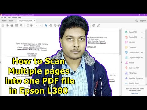 How To Scan Multiple Pages Into One PDF in Epson L380  All-In-One Ink Tank Printer