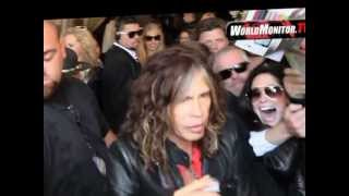 Steven Tyler of Aerosmith and American Idol Mobbed by Fans at The Grove