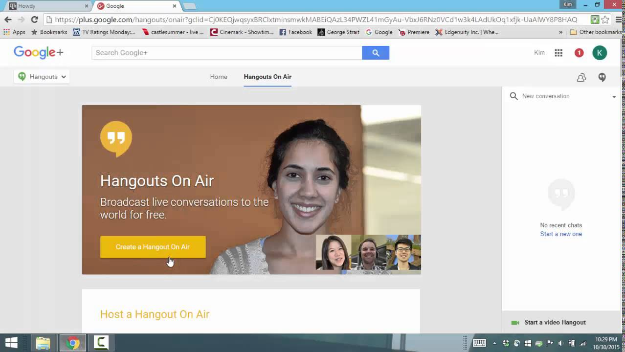 How To Create A Google Hangout And Invite Youtube