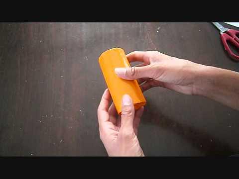 יצירה לחנוכה-כד שמן מגליל נייר טואלט