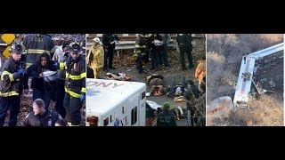 4 Dead Bronx Train Derails Train Jumps Track Skids to Hudson River Active accident scene