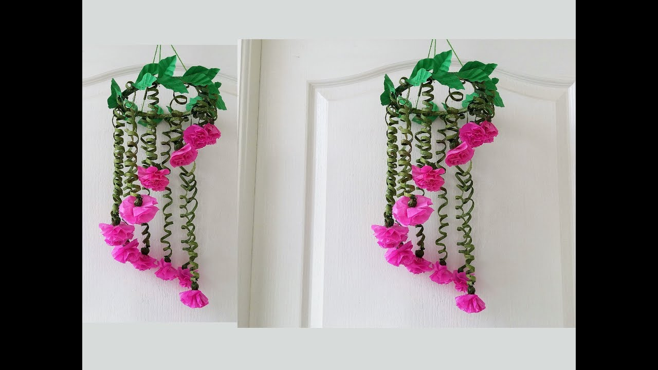 Newspaper & Polythene Bag Wind Chime / Newspaper Craft Wall Hanging Easy At  Home / Best out of Waste