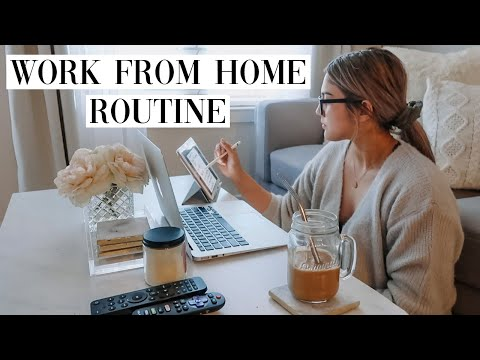 WORK FROM HOME ROUTINE | Day In My Life Working From Home During Quarantine
