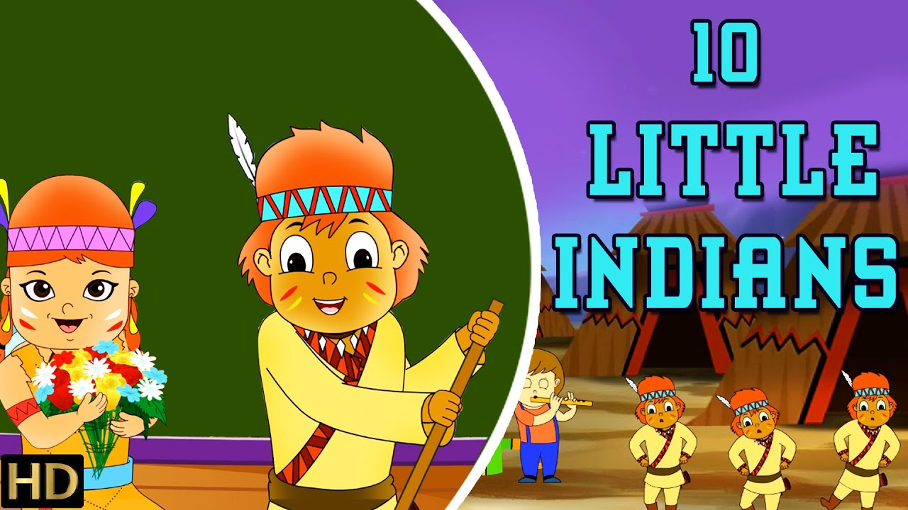 Ten Little Indians (HD) | Nursery Rhymes | Popular Kids Songs | Shemaroo  Kids