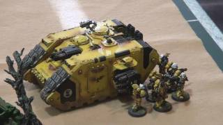 Warhammer 40k Battle Report: Imperial Fists Vs Chaos Marines Part 1