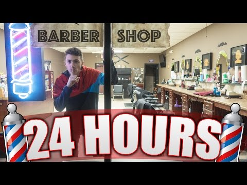 24 HOUR OVERNIGHT in a BARBERSHOP / SALON !! INSANE LOCKED IN A SALON OVERNIGHT