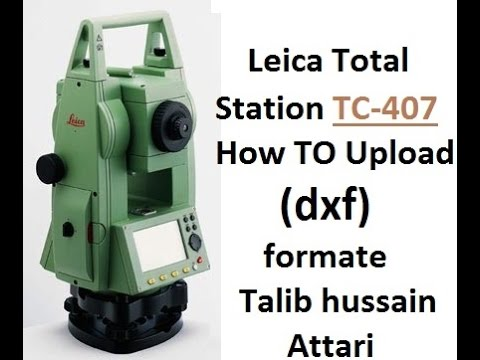 leica total station tc 407 how to upload dxf formate youtube rh youtube com manual leica tcr 407 ultra manual da estação total leica tc 407