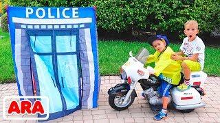 فلاد ونيكيتا يتظاهران أنهم رجال شرطة
