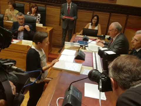 Yolanda González Huergo. Promesa del cargo de concejala. Sesión constitución corporación 2019-2023